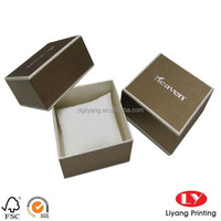 handmade watch packaging cardboard box wrapped by texture paper with pillow pad China supplier