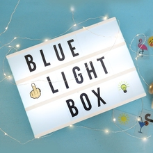 Factory Directly Sell led lighting usb cinematic light box up letters With Wholesale Price In Alibaba