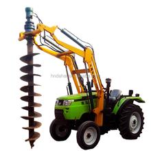 electric power facilities borehole tractor digger pole erection machine for sale