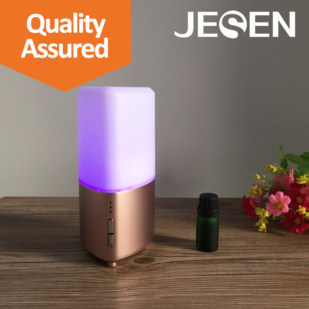 100ml Essential Oil Diffuser and Mini Personal Aroma Diffuser, Portable Aroma Humidifier with Rose Gold Alloy surface treatment