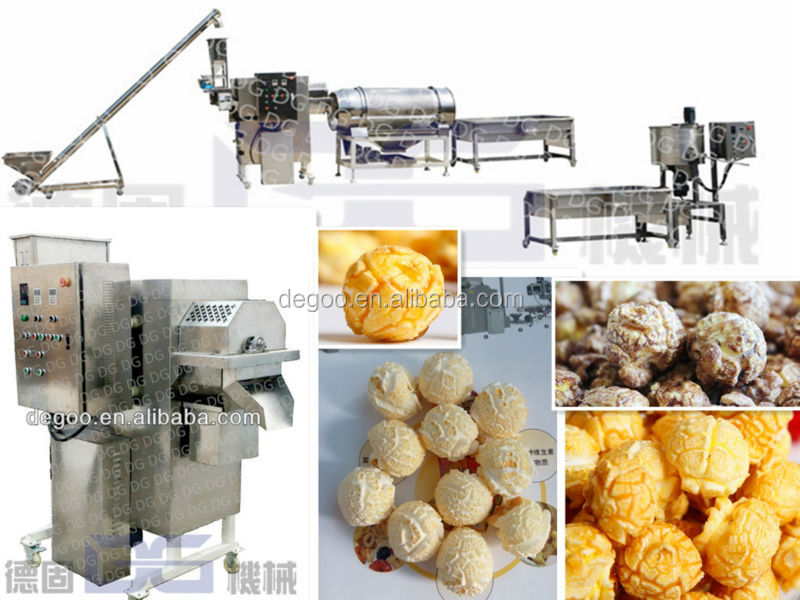 hot air caramel flavored popcorn processing machine