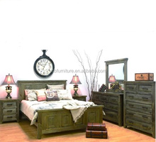Australia and New Zealand antique rustic solid pine wood furniture bedroom sets