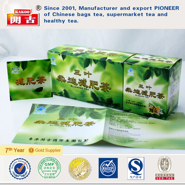 Three Leaves Slimming Tea GMP Factory Slimming Tea China Herbal Product Energy Drink