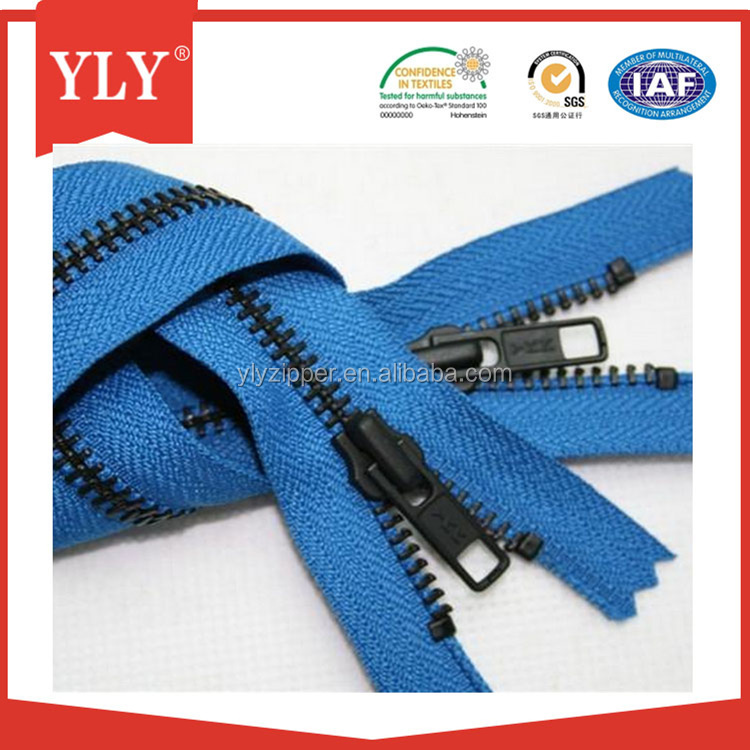 Double Sliders Two way Close end Metal Zipper for Luggage Bags