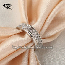 Import china goods birthday gift pretty artificial platinum diamond finger rings