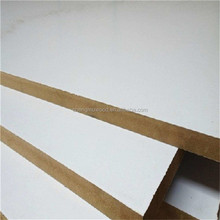 18mm white gloss melamine MDF board standard size for furniture Linyi