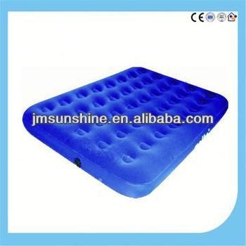 flocking with pvc plastic air bed / infaltable mattress