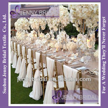 SH043A New hot sale ivory chiffon chiavari chair sash,chair cover for wedding