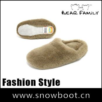 sheepskin slipper fashionable Men's winter warm slippers