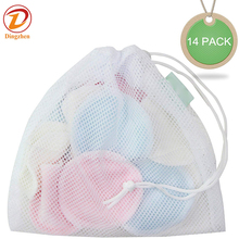 12 Pcs Reusable Makeup Remover Pads with 2 Bags Bamboo Organic Cotton Rounds For Face