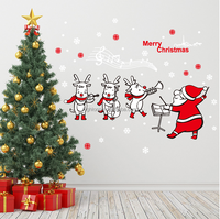 Latest christmas decoration merry christmas removable window glass sticker for room windows glass christmas