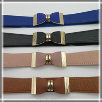 Fashion elastic abdominal belt with bowknot for women