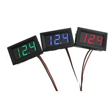 0.56inch DC0-300V 0-200V three-wire LED digital dc voltmeter