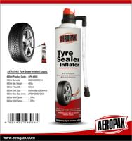 AEROPAK Hot Sale Fix Flat Tire Sealant Inflator with hose/Tire Emergency Inflator/puncture repair tyre sealant Inflator