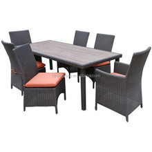 6 Seat Outdoor Dining Set - Grey 6 Seat Rattan Garden Dining Set