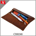 Cool Leather Pencil Pen Case Stationery Pouch Case Cosmetic Brush Case Holder