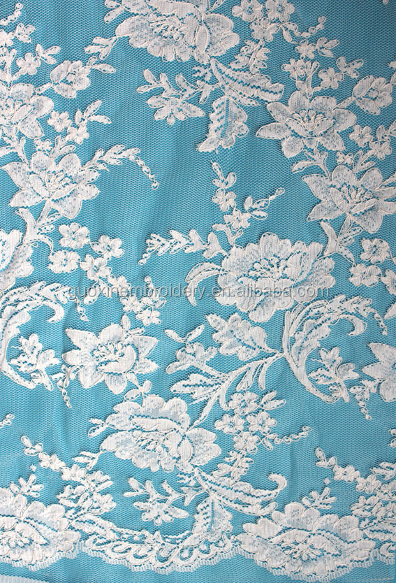 high quality cheap embroidered jacquard lace fabric wholesale