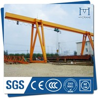Steel factory used 10ton single beam gantry crane