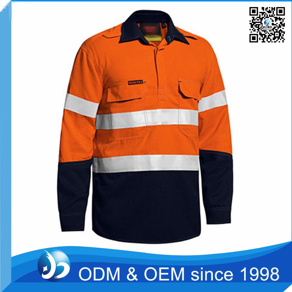 Custom hi vis fr work shirt with reflective stripe buy for Custom hi vis shirts