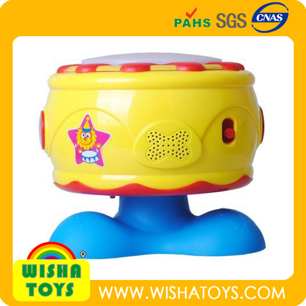 wholesale Hot sale plastic educational Kid rotary music light toy,electronic tama drum set Puzzle Musical Instruments toy gift