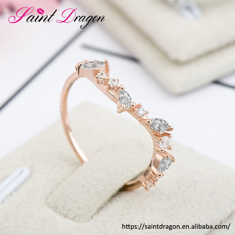 Valentine's day jewelry legend of the blue sea sterling silver korea zircon setting finger ring for girls