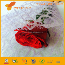 chinese factory supply flower mesh,8 shape florist wrapping mesh,white mesh