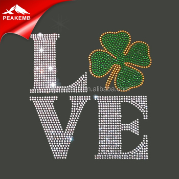 Keep Calm and Drink On Shamrock Rhinestone Transfers Design For St. Patrick's Day