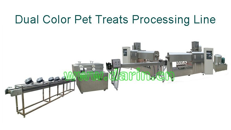 Dual color Small Size Pet Treats Bone Making Machine