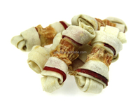 dry chicken with rawhide bone wraps dog dental chew snacks private label