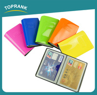 Toprank OEM/ODM Available Gift Cheap Travel Wallet Fashion PVC ATM Card Cover Pocket Business Card Holder