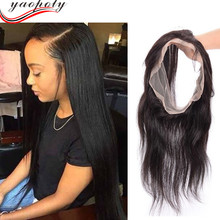 cheap best selling brazilian human hair wig elastic band 360 lace frontal closure with baby hair