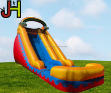 Custom Good Quality 18'ft Height Inflatable Rainbow Water Slide For Sale