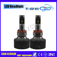 All In One Kit 4200LM 30W 6000K White Waterproof H7 H8 H11 9004 9005 9006 9007 car led headlight