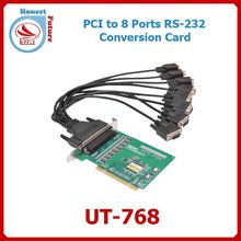 Upfly Industrial grade PCI to 8 port RS232 Multiport Serial Card UT-768