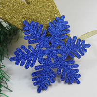 plastic christmas flat blue ornaments