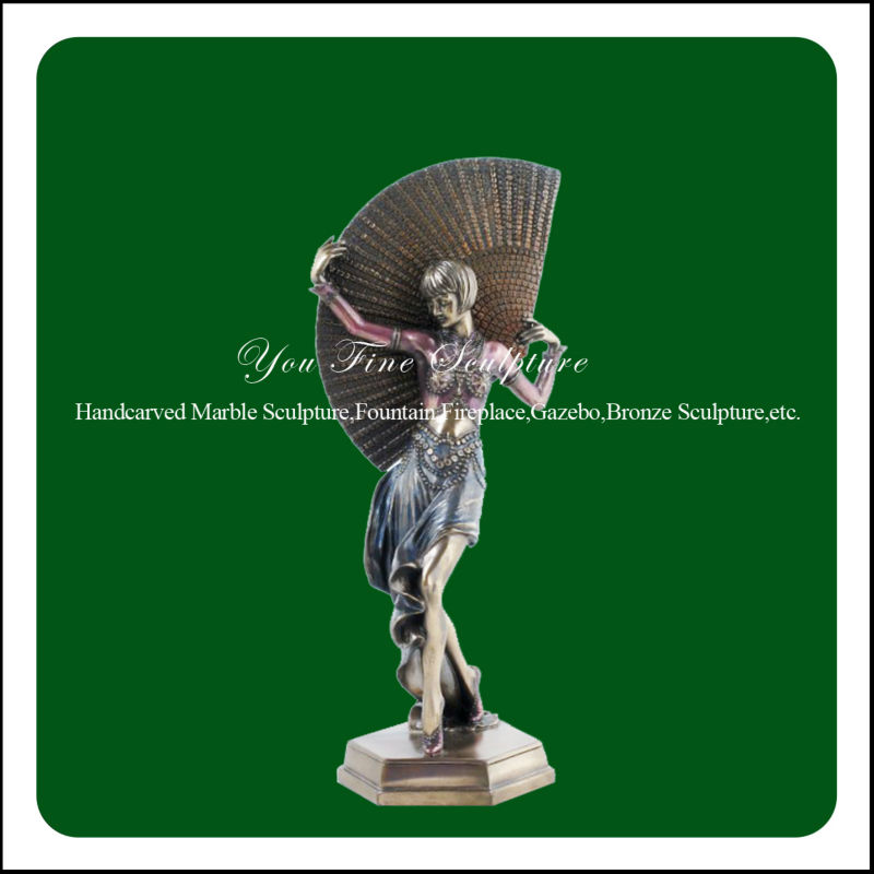 Home Casting Decorative Dancing Lady Sculpture