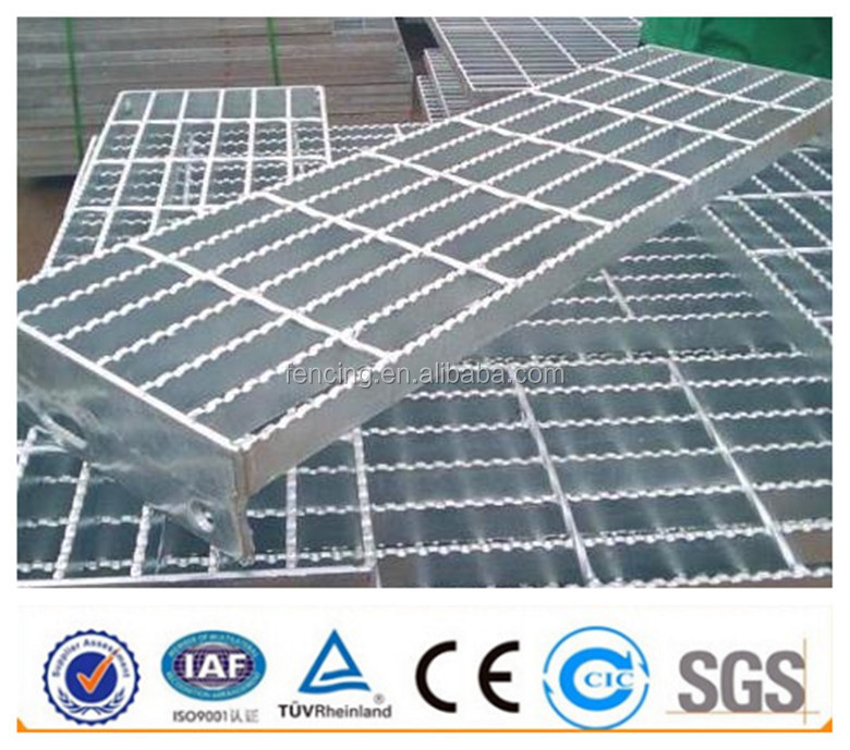 Galvanized serrated steel bar grating catwalk platform weight (factory price)