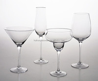 Popular Design Handmade High Quality Clear Red Wine Glass With Stem