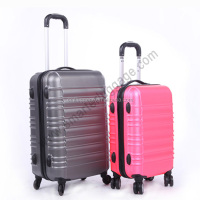 2pcs hard shell abs +pc quality trolley luggage bag