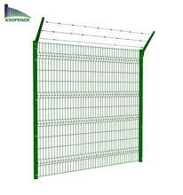 cheap Betafence 8x8 used pvc plastic coated metal welded Nylofor 3D garden wire mesh fence panel for sale