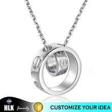 925 Silver Round Band Payal Design with Price Simple Style Pendant Necklace