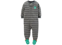 Online Shopping Baby Boys Polar Fleece Striped Cute Animal Foot Romper
