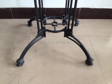 cast iron metal drum coffee table for sale