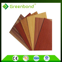 Greenbond plastic wood effect cladding composite interior wall acp sheet