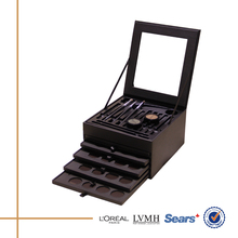 New attractive luxury palette professional makeup train case with multi lattice