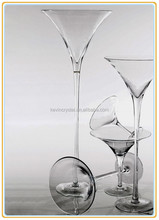 clear martini glass vase with various heights,clear glass vase modern lead free,clear glass flower vase decor