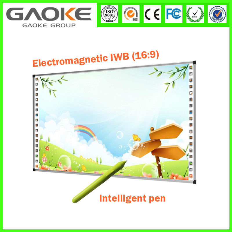 "Quaickly Installed Cheap 82"" Movable USB LCD Touch Screen Board Wall Smart Board Whiteboard with Built In Projector Factory SKD"