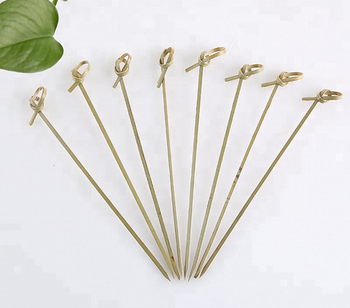Bamboo knotted skewer party fruit picks 9cm