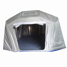 6m 19ft Grey color Large Military Inflatable Tube Tent Lightweight Accept OEM
