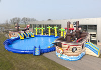 pirate ship water park adult/kids giant inflatable water park playground
